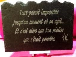 tout parait impossible jusqu au moment où on