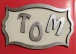 plaque TOM personnalisée chambre enfant