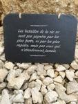ardoise naturelle gravée cadeau personnalisé pensée positive batailles de la vie citation suspendue décoration