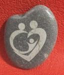 galet coeur à personnaliser famille je t'aime St Valentin mariage