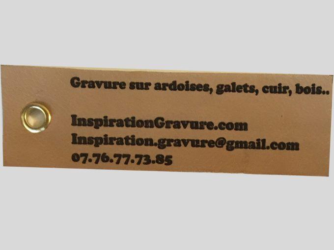 étiquette bagage cuir personnalisée