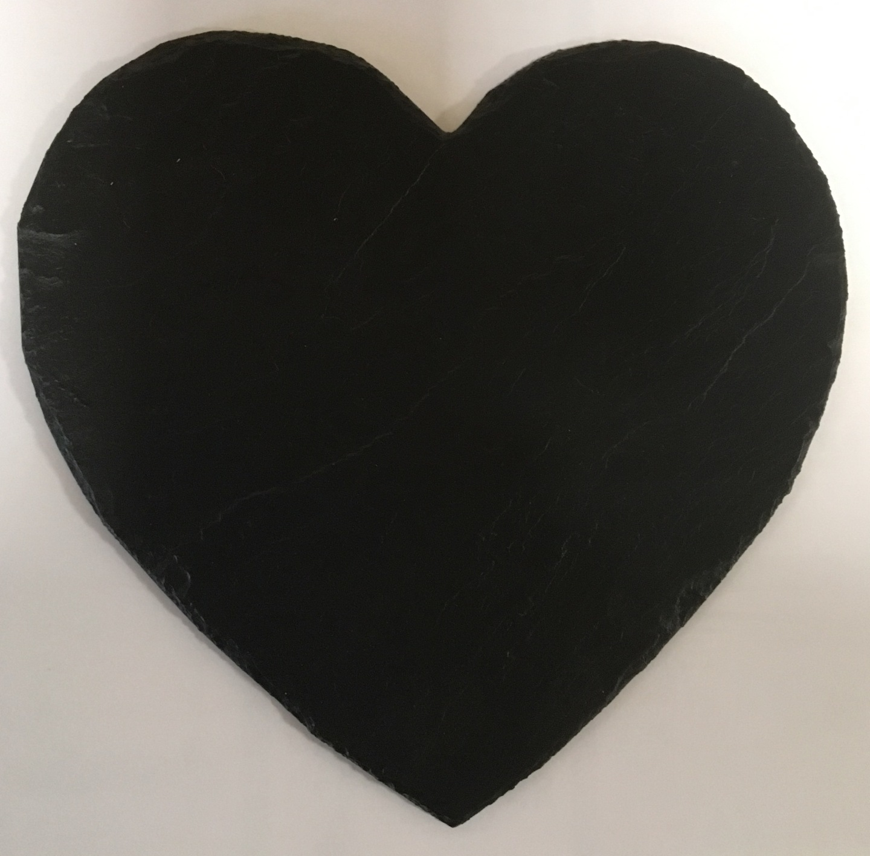 ardoise cœur gravée St Valentin à personnaliser mariage