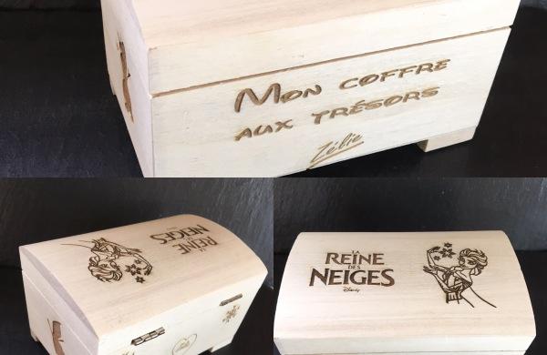 coffre bois gravé personnalisé