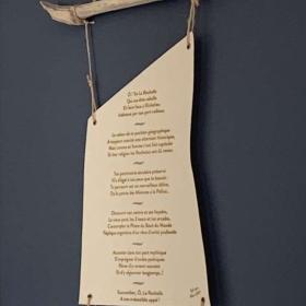 poème gravé sur toile La Rochelle